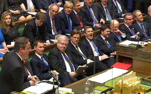 All male front bench.