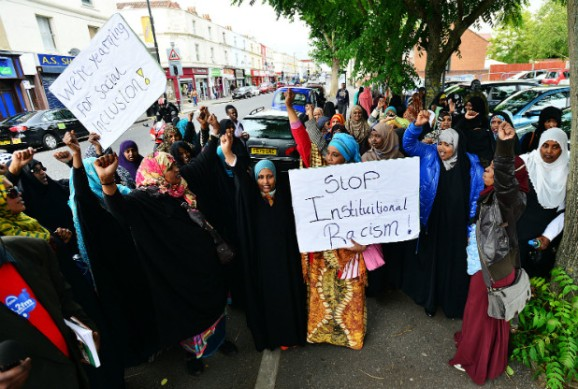 Protest in Bristol