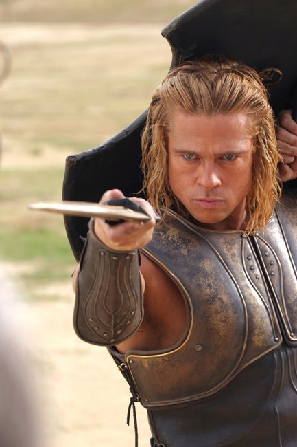 Brad Pitt is Achilles and lives forever through his fame